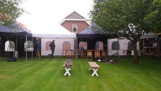 Party tent 4x4 mtr POP UP wit