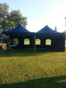 Party tent 4x4 mtr POP UP blauw