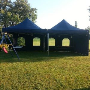 Party tent 4x4 mtr POP UP blauw