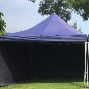 Party tent 3 x 3 POP UP Blauw